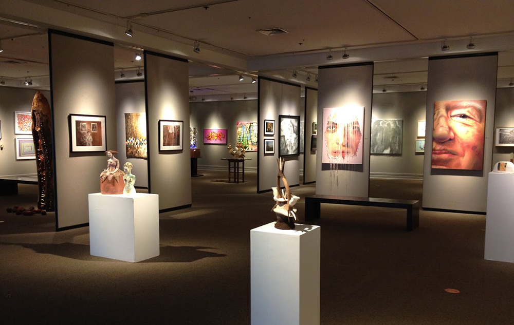 The Durham Art Guild SunTrust Art Gallery is on the first floor of the Durham Arts Council Building in Durham, NC